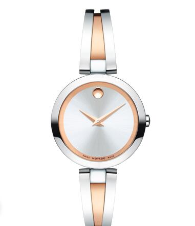 MOVADO Aleena stainless steel and rose gold PVD-finished Stainless Steel Bangle Watch Replica Watch 0607151