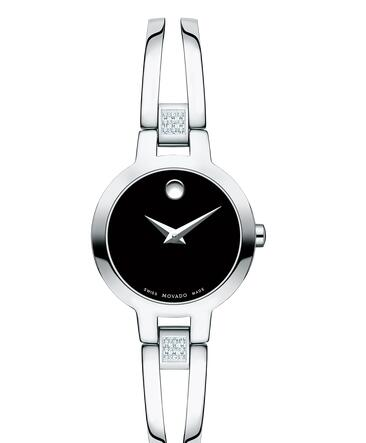 MOVADO Amorosa Women Stainless Steel Bangle Watch Replica Watch 0607154