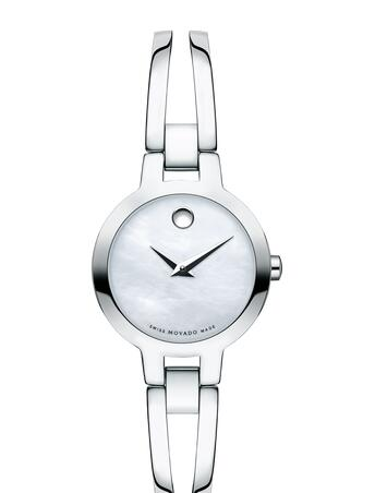 MOVADO Amorosa stainless steel bangle watch Replica Watch 0607357