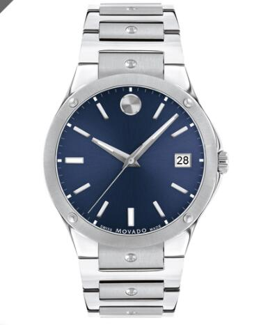 Movado SE Stainless Steel Watch With Blue Dial Replica Watch 0607513
