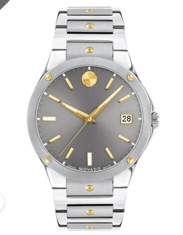 Movado SE Stainless Steel Watch With Gold Accents Replica Watch 0607514