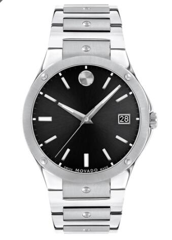 Movado SE Stainless Steel Watch With Black Dial Replica Watch 0607541