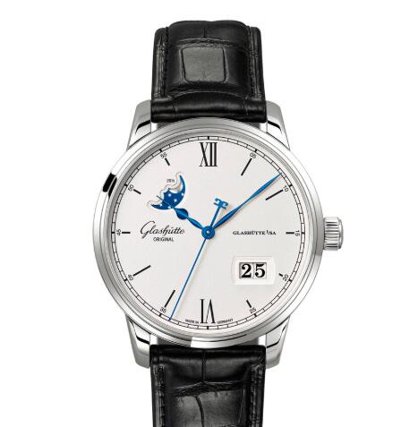 Glashuette Original Senator Excellence Panorama Date Moon Phase Replica Watch 1-36-04-01-02-30