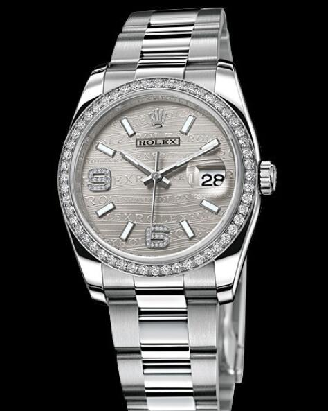 Replica Rolex Watches for Women Watch Rolex Datejust Rolesor 36 mm Oyster Perpetual 116244-72600 White Rolesor - Setted Bezel & Arabic Numerals
