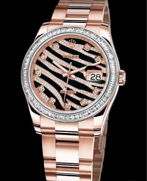 Replica Rolex Watches for Women Watch Rolex Datejust Or Everose 36 mm Oyster Perpetual 116285 BBR-73605 Everose Gold - Diamonds