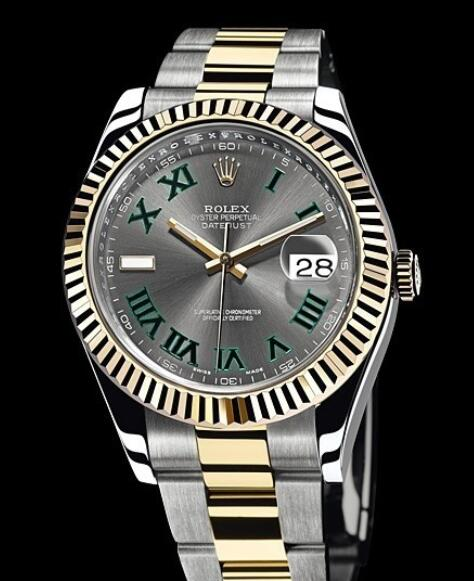 Rolex Replica Watch Oyster Perpetual Datejust II Rolesor 116333-72213 Yellow Rolesor - Roman Numerals