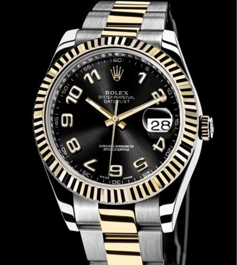 Rolex Replica Watch Oyster Perpetual Datejust II Rolesor 116333-72213 Yellow Rolesor - Arabic Numerals