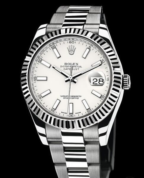 Rolex Replica Watch Oyster Perpetual Datejust II Rolesor 116334-72210 White Rolesor - White Dial