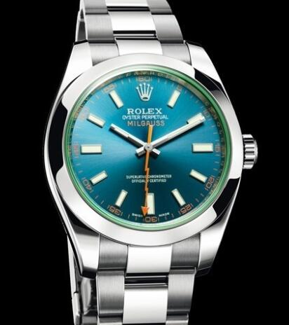Rolex Watches Oyster Perpetual Milgauss 116400 GV Steel - Z Blue Dial