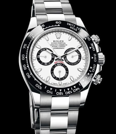 Rolex Oyster Perpetual Watches Cosmograph Daytona 116500 LN - 78590 Steel - Black Cerachrom Bezel - White and Black Dial - Steel Bracelet