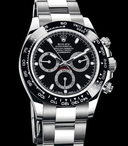 Rolex Oyster Perpetual Watches Cosmograph Daytona 116500 LN - 78590 Steel - Black Cerachrom Bezel - Black and Grey Dial - Steel Bracelet
