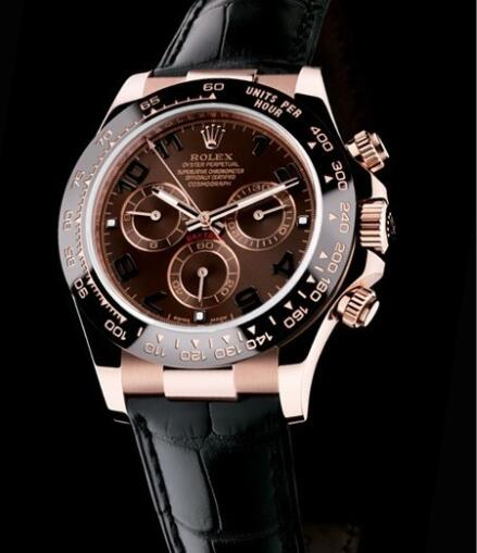 Rolex Watch Oyster Perpetual Cosmograph Daytona 116515LN Everose Gold - Chocolate Brown Dial - Black Cerachrom Bezel