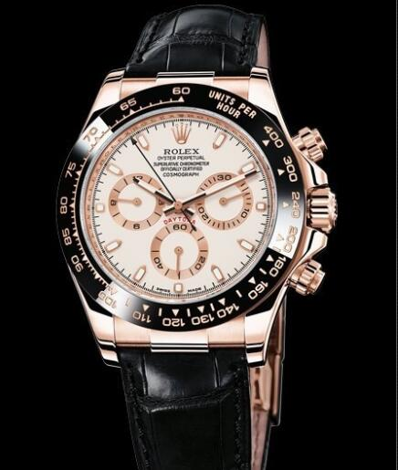 Rolex Watch Oyster Perpetual Cosmograph Daytona 116515LN Everose Gold - Ivory coloured Dial - Black Cerachrom Bezel