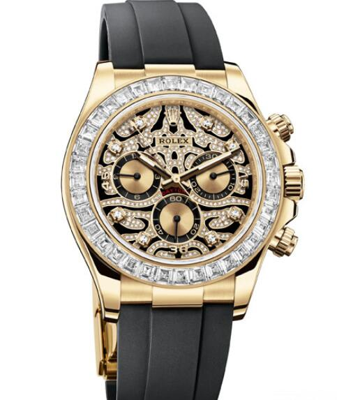 Fake Rolex Women Watch Cosmograph Daytona Oyster Perpetual 116588TBR Yellow Gold - Diamonds