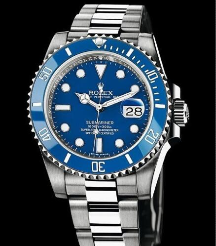 Rolex Watch Oyster Perpetual Submariner Date 116619 LB / 97209 White Gold - Blue Cerachrom Bezel