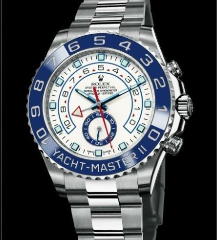 Rolex Watches Oyster Perpetual Yacht-Master II 116680 Steel - Matt White Lacquer - Steel Bracelet
