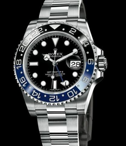 Rolex Watches Oyster Perpetual GMT-Master II 116710BLNR Steel - Blue and Black Cerachrom Bezel - Steel Strap