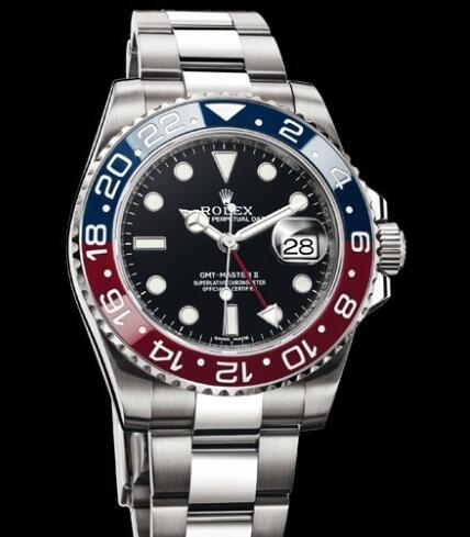 Rolex Watches Oyster Perpetual GMT-Master II 116719 BLRO White Gold - Red and Blue Cerachom Bezel