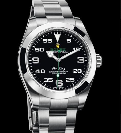 Rolex Oyster Perpetual Watches Air-King 116900 - 78590 Steel - Black Dial - Steel Bracelet
