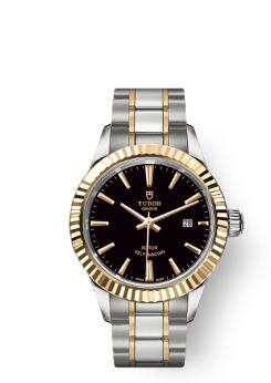Buy Tudor Style Watch Review Replica 28 mm steel case Yellow gold bezel 12113-0005