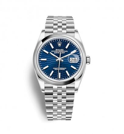 Rolex Datejust 36 Stainless Steel / Domed / Blue – Fluted / Jubilee Replica Watch 126200-0021