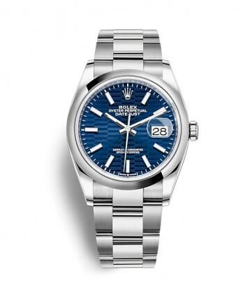 Rolex Datejust 36 Stainless Steel / Domed / Blue – Fluted / Jubilee Replica Watch 126200-0022