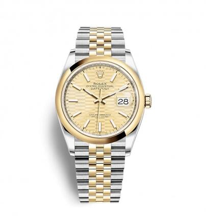 Rolex Datejust 36 Stainless Steel / Yellow Gold / Smooth / Golden – Fluted / Jubilee Replica Watch 126203-0039