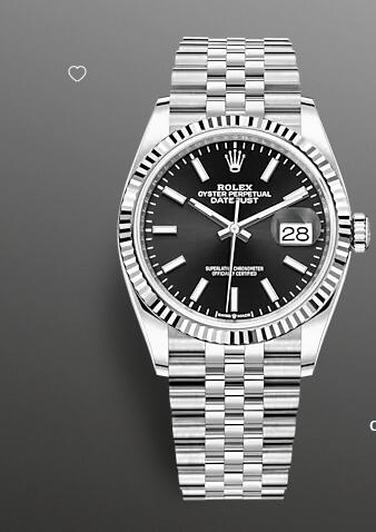 Replica Rolex Datejust 36 Watch White Rolesor combination of Oystersteel and 18 ct white gold 126234-0015