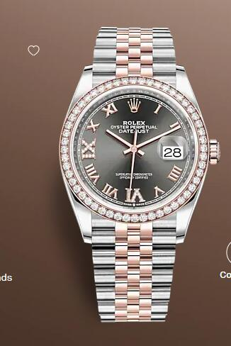 Replica Rolex Datejust 36 Watch Everose Rolesor combination of Oystersteel and 18 ct Everose gold 126281RBR-0011
