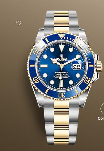 Replica Rolex Submariner Date Watch 41mm Yellow Rolesor combination of Oystersteel and 18 ct yellow gold 126613LB-0002