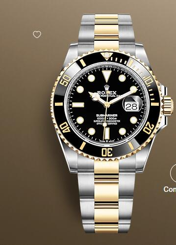 Rolex Submariner Date Watch Replica Yellow Rolesor combination of Oystersteel and 18 ct yellow gold 126613LN-0002
