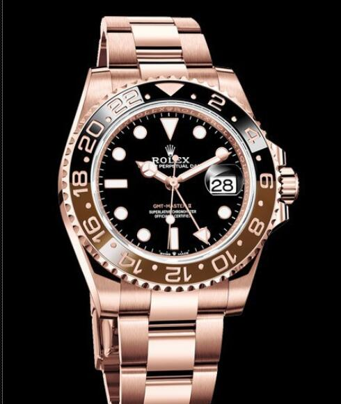 Rolex Oyster Perpetual Watches GMT-Master II 126715 CHNR - 79205 Everose Gold - Brown and Black Cerachrom Bezel