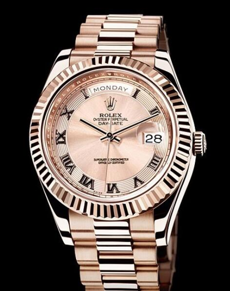 Rolex Replica Watch Oyster Perpetual Day-Date II 218235-83215 Everose gold