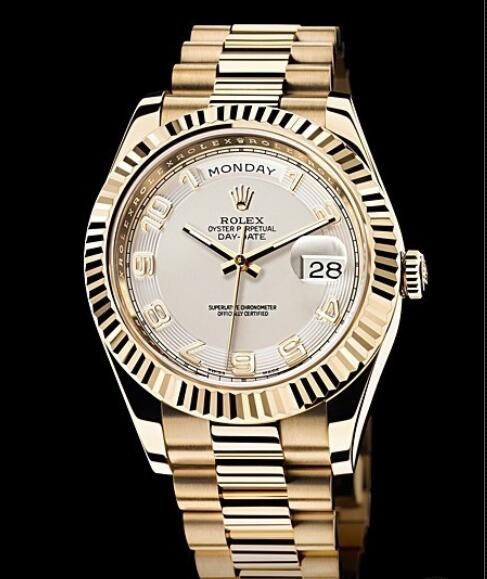 Rolex Replica Watch Oyster Perpetual Day-Date II 218238-83218 Yellow gold