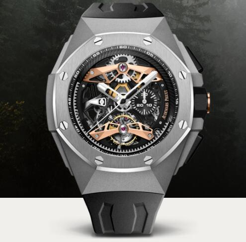 Audemars Piguet ROYAL OAK CONCEPT FLYING TOURBILLON GMT Watch Replica 26612TI.OO.D002CA.01