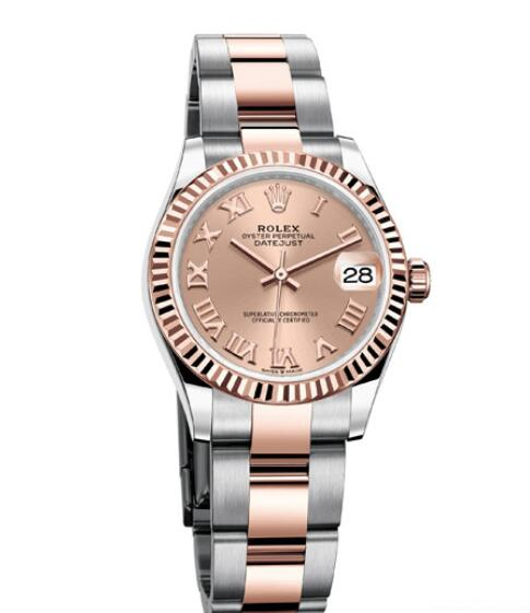 Fake Rolex Women Watch Datejust 31 Oyster Perpetual 278271 Everose Rolesor