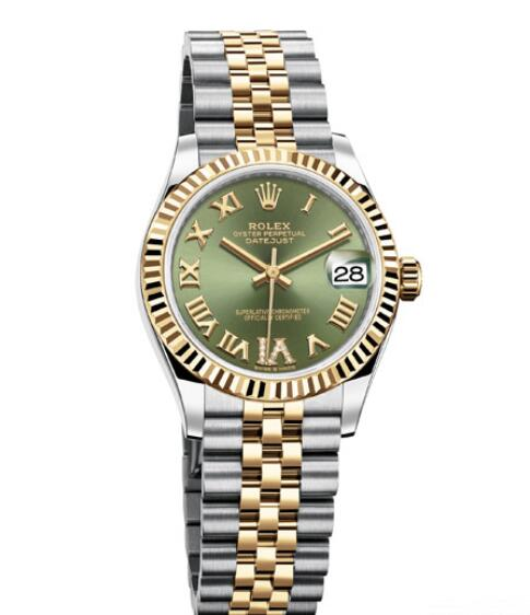 Fake Rolex Women Watch Datejust 31 Oyster Perpetual 278273 Yellow Rolesor