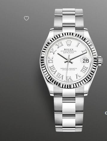 Replica Rolex Datejust 31 Watch White Rolesor combination of Oystersteel and 18 ct white gold 278274-0009