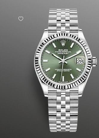 Replica Rolex Datejust 31 Watch White Rolesor combination of Oystersteel and 18 ct white gold 278274-0018