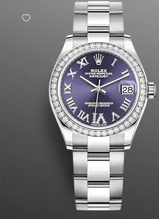 Replica Rolex Datejust 31 Watch White Rolesor combination of Oystersteel and 18 ct white gold 278384RBR-0029