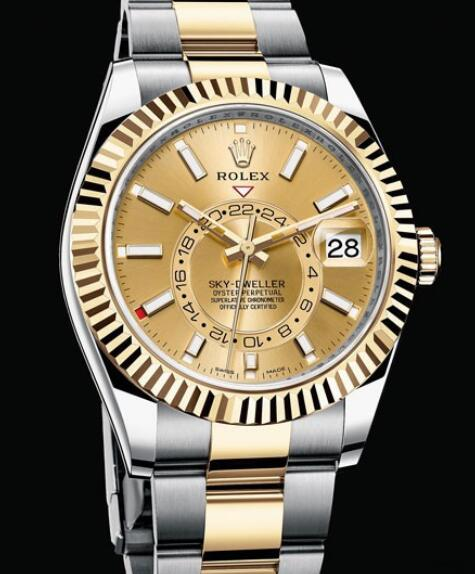 Rolex Oyster Perpetual Watches Sky-Dweller 326933 Oyster type case - Yellow Rolesor