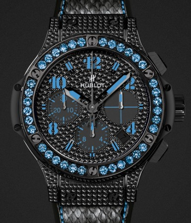 Hublot Limited edition Big Bang Black Fluo Blue 341.SV.9090.PR.0901 SWISS MOVEMENT