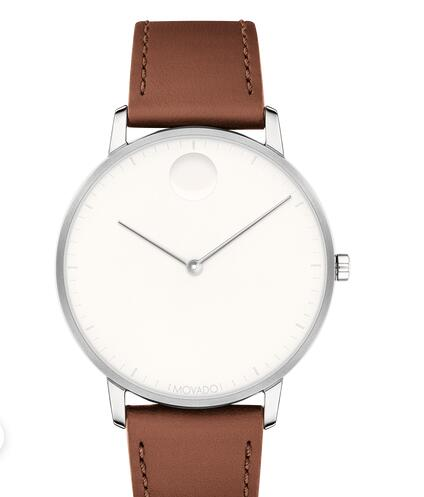 Movado Face Stainless Steel With Cognac Leather Strap 3640001 Replica Watch Cheap Price