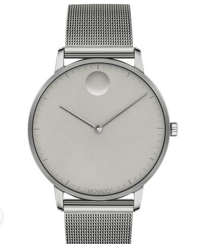 Movado Face Grey Stainless Steel Mesh Watch 3640008 Replica Watch Cheap Price