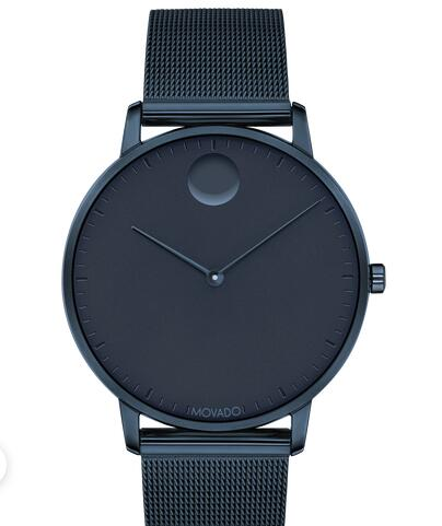 Movado Face Navy Stainless Steel Mesh Watch 3640009 Replica Watch Cheap Price