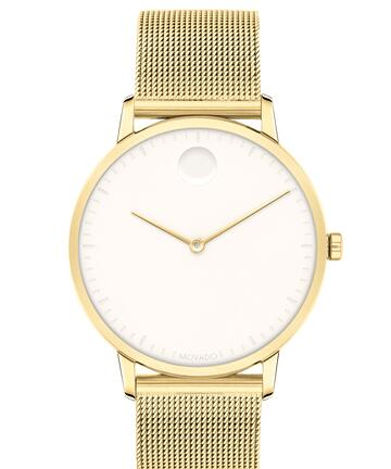 Movado Face Yellow gold ion-plated Stainless Steel Mesh Watch 3640015 Replica Watch Cheap Price