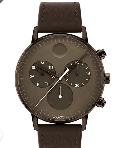 Movado Face Brown Leather Chronograph Strap Watch 3640057 Replica Watch Cheap Price