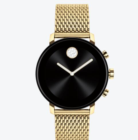 Replica Movado Connect 2.0 pale gold smart watch with pale gold mesh bracelet 3660026