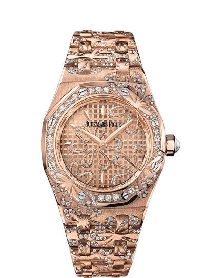 Replica Audemars Piguet LADIES COLLECTION ROYAL OAK OFFSHORE Watch QUARTZ 67617OR.ZZ.1235OR.01
