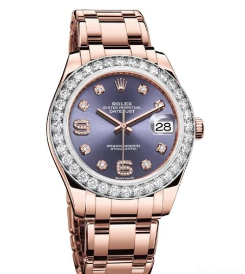 Replica Rolex Watch Women Oyster Perpetual Pearlmaster 39 86285-42745 Everose Gold - Diamonds - Everose Gold Bracelet